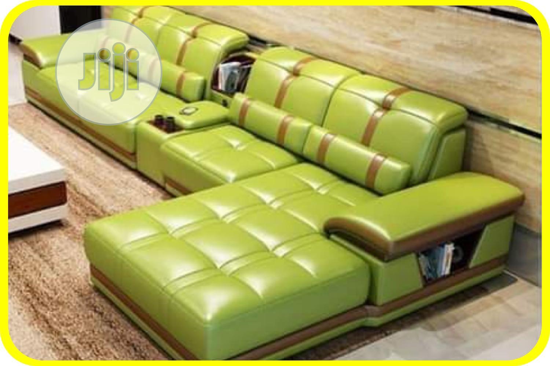 L-shaped Leather Sofa
