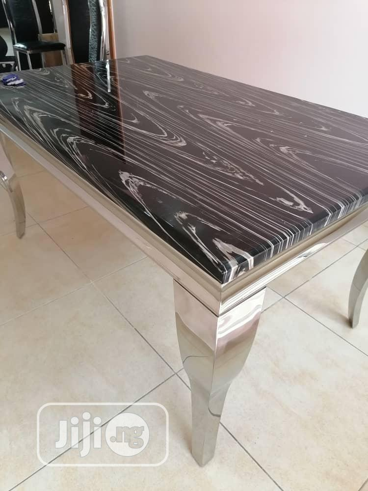 High Quality and Durable Marble Dining Table Set. 6 Seater. | Furniture for sale in Amuwo-Odofin, Lagos State, Nigeria