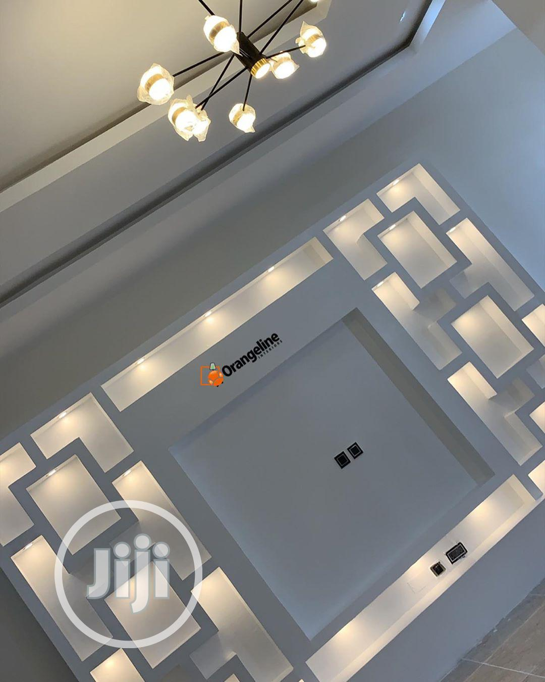 Archive: POP Ceiling Installation, Wall Screeding, TV STAND