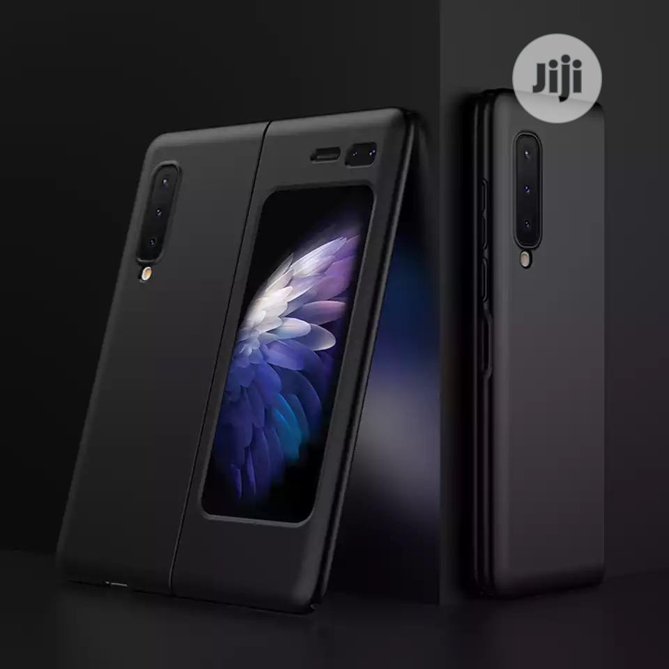 Galaxy Fold Case Carbon Fibre Material Case PU Case | Accessories for Mobile Phones & Tablets for sale in Ikeja, Lagos State, Nigeria