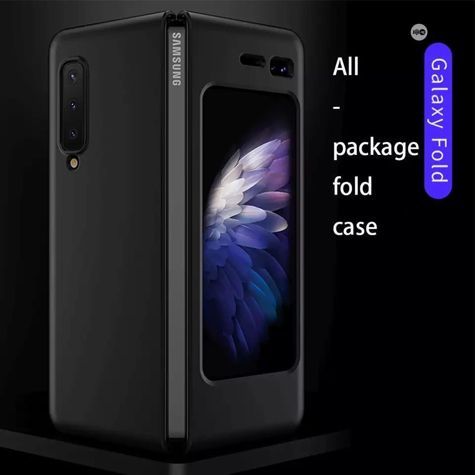 Galaxy Fold Case Carbon Fibre Material Case PU Case