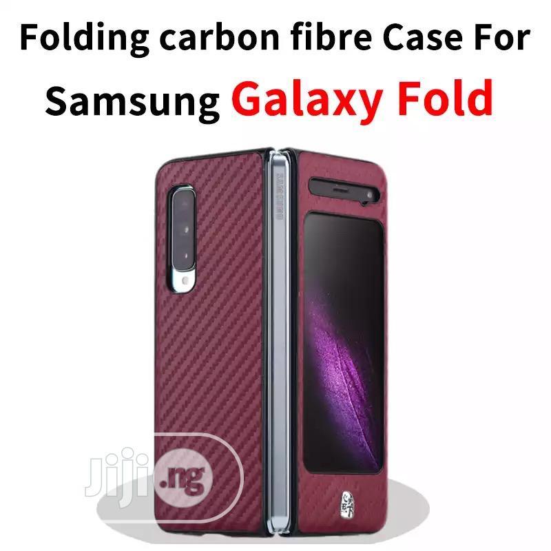 Galaxy Fold Carbon Fibre Material Case Galaxy Fold PU Case