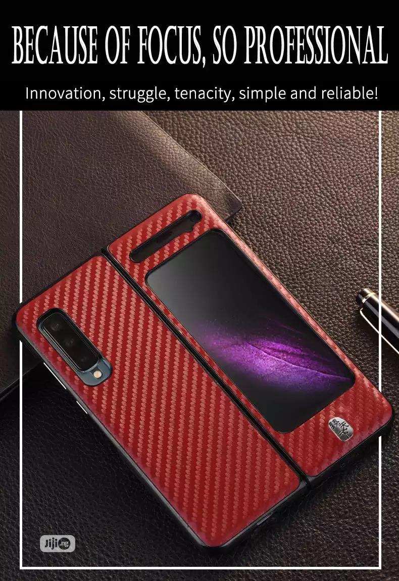 Galaxy Fold Carbon Fibre Material Case Galaxy Fold PU Case | Accessories for Mobile Phones & Tablets for sale in Ikeja, Lagos State, Nigeria