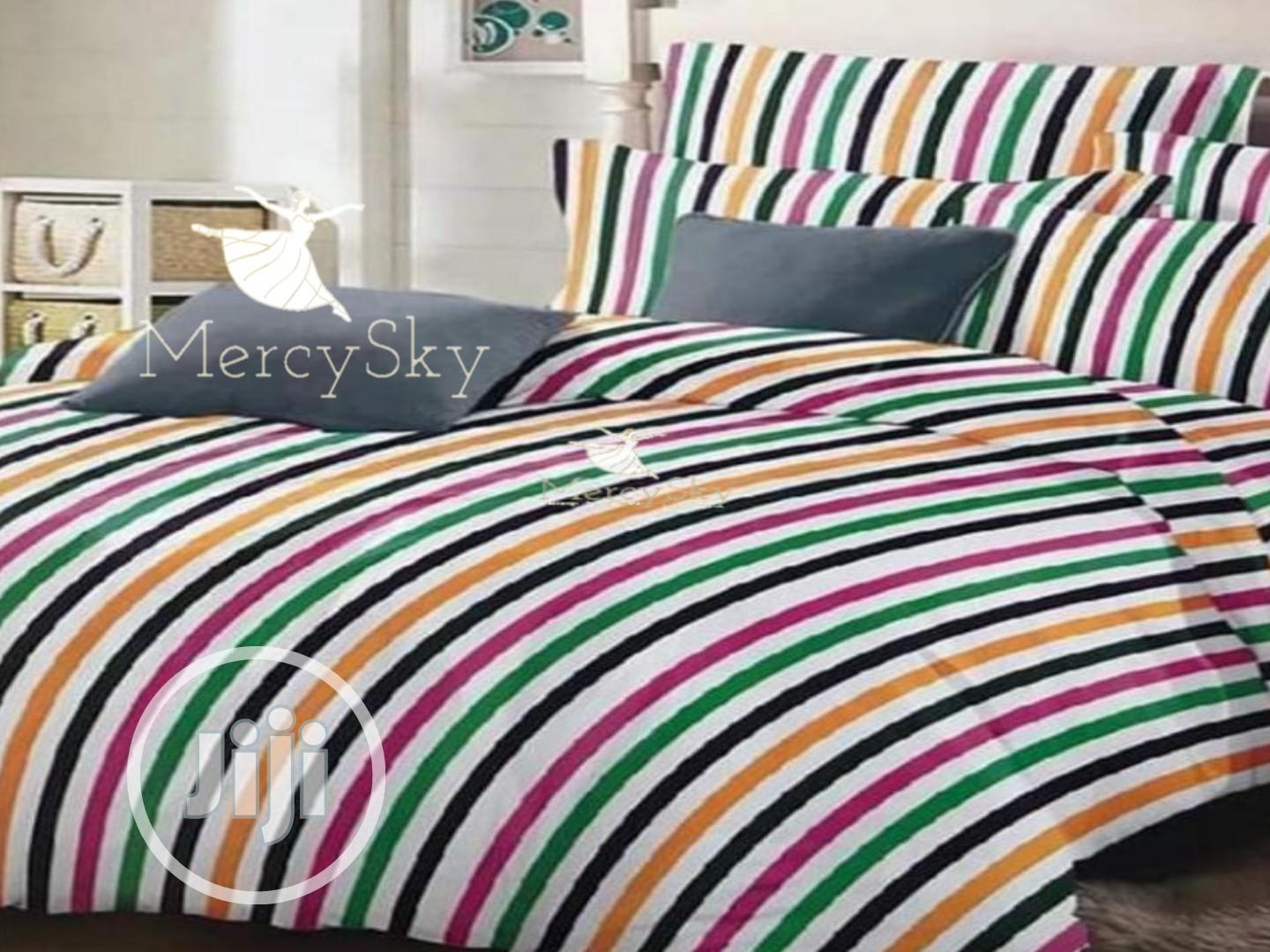 Stripe Bed Sheet and Beddings Set 4,5,6,7 Inches