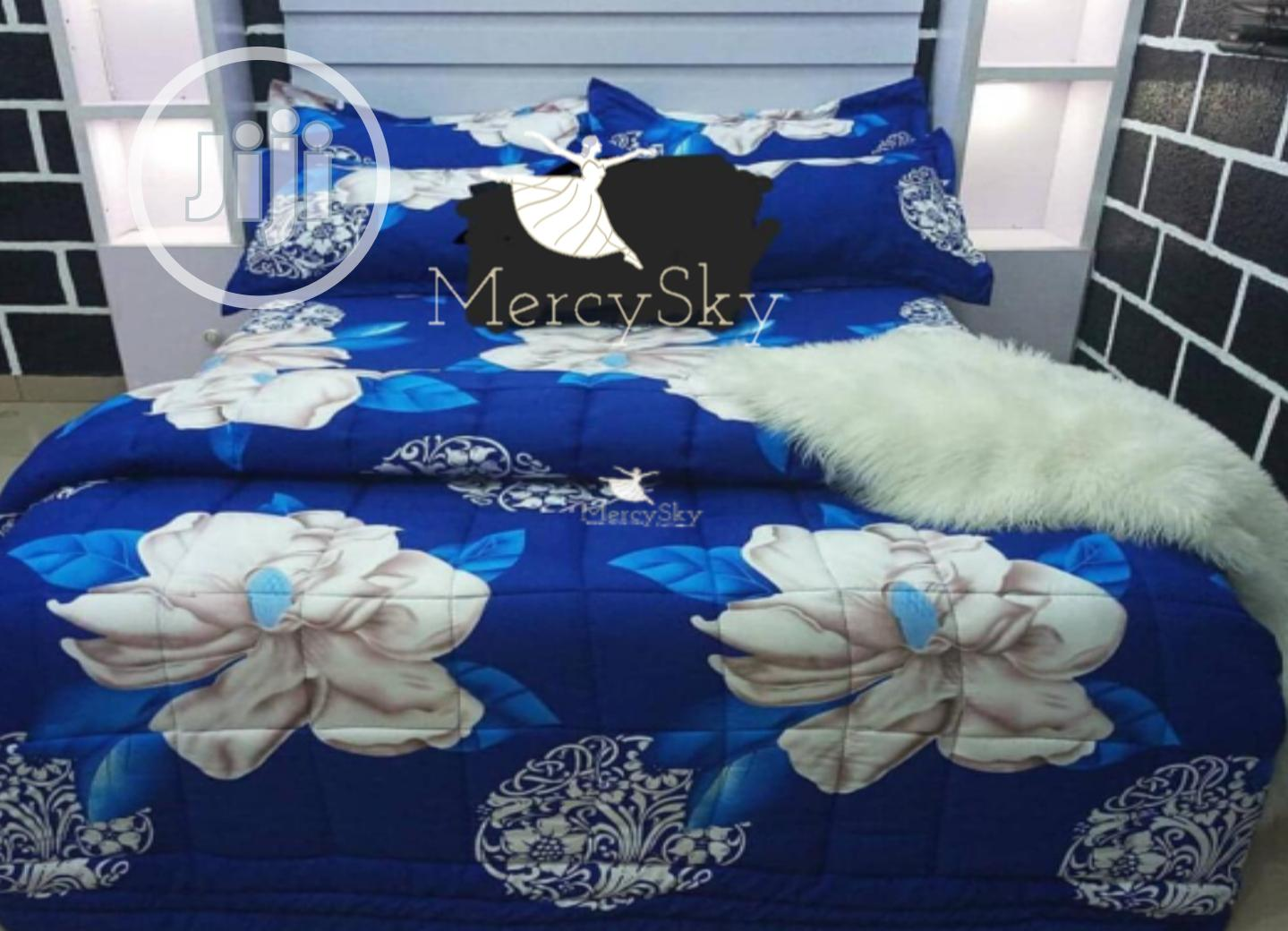 Blue Flower Beddings Set , Bedsheet Available in All Sizes