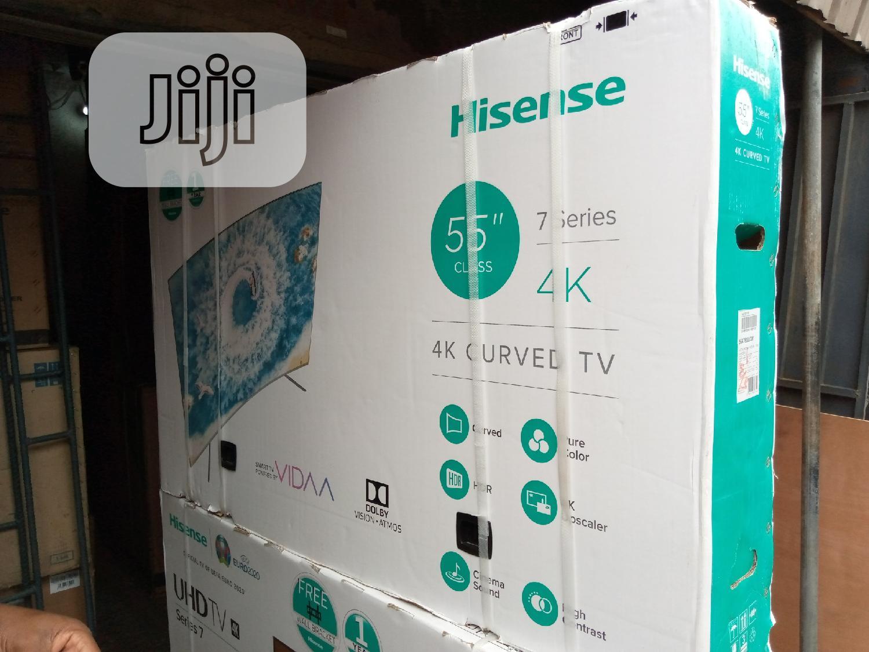 "Hisense 55"" 7series 4k Curve Television   TV & DVD Equipment for sale in Ojo, Lagos State, Nigeria"