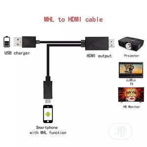 1.8M Micro USB Mhl To HDMI Cable 1080P HD TV Cables Adapter | Accessories & Supplies for Electronics for sale in Lagos State, Ajah