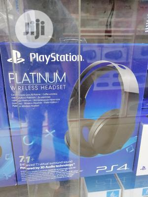 Sony Playstation Ps4 Platinum Wireless Headset | Headphones for sale in Lagos State, Ikeja