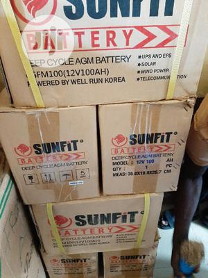 12v 100ah Sunfit Battery Available   Solar Energy for sale in Lagos State, Ojo