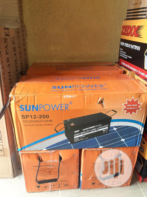 12v 200ah Sun Power Battery Av