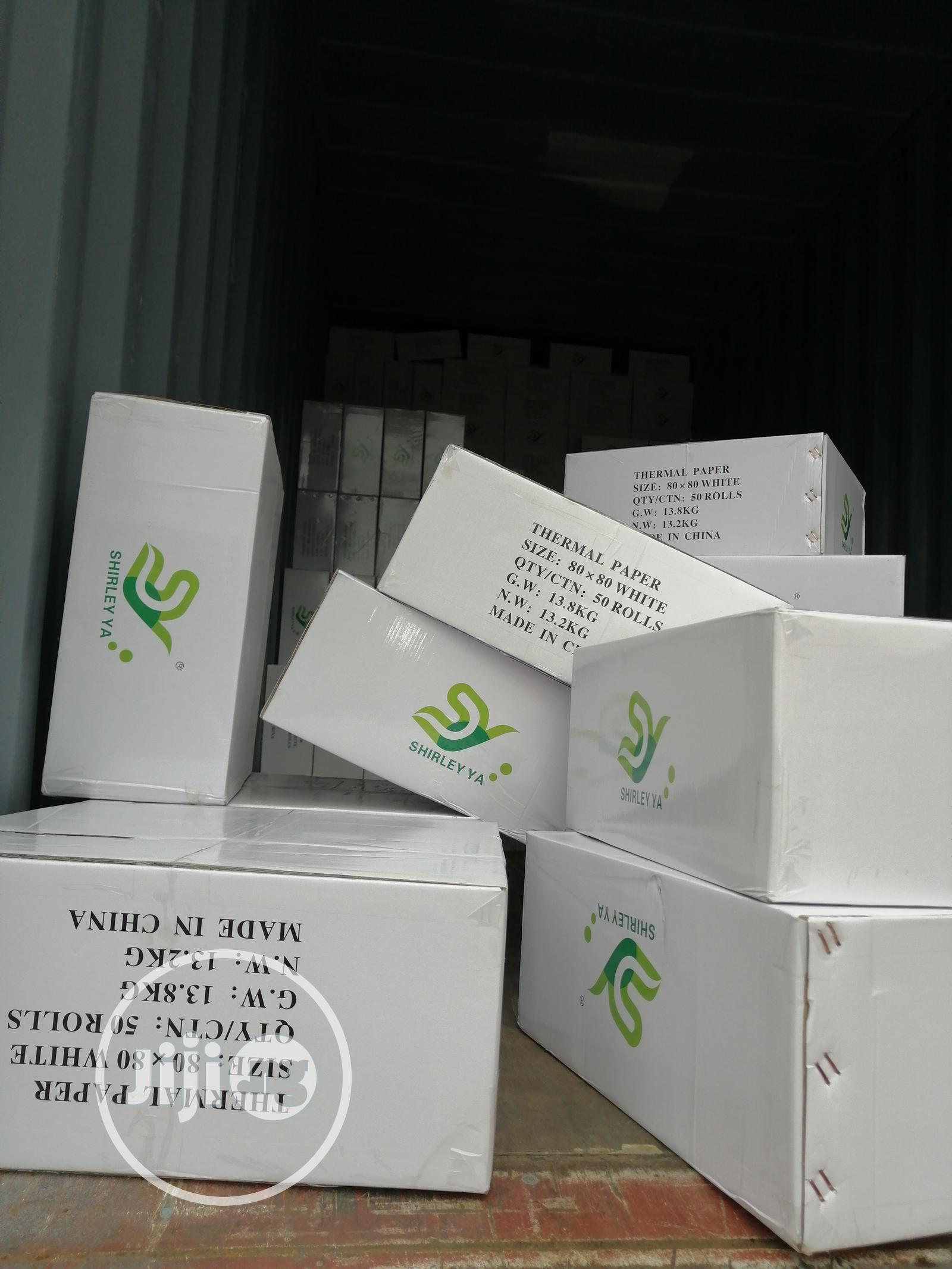 High Quality White And Colour Thermal Paper Big Size 80X80 | Stationery for sale in Onitsha, Anambra State, Nigeria