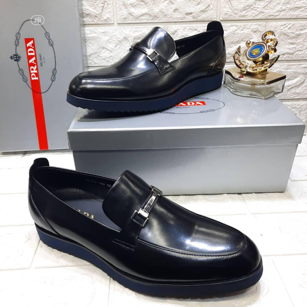 Original Prada Black Leather Shoe