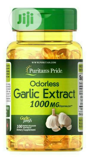 Puritan's Pride Odorless Garlic Extract 1000MG X | Vitamins & Supplements for sale in Lagos State, Surulere