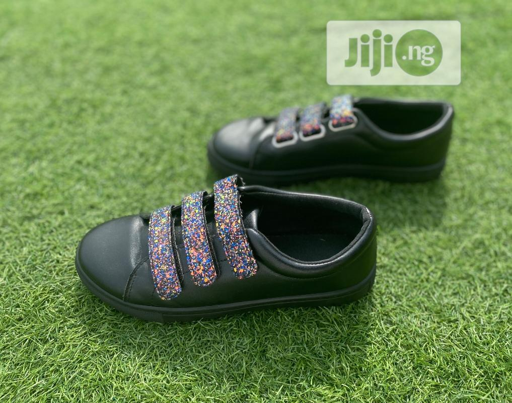 Fashion Female Black PU Ladies Sneakers