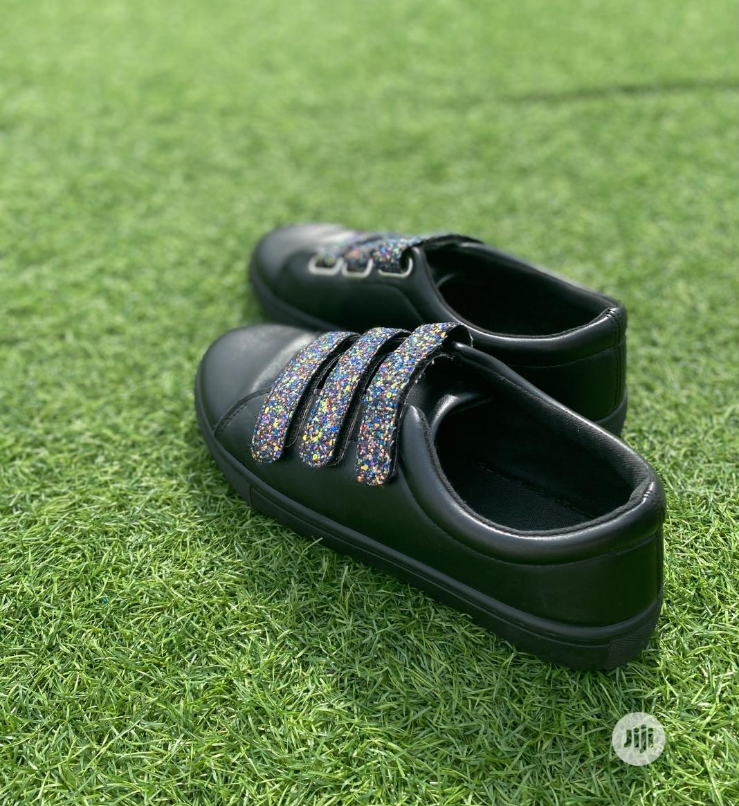 Fashion Female Black PU Ladies Sneakers | Shoes for sale in Surulere, Lagos State, Nigeria
