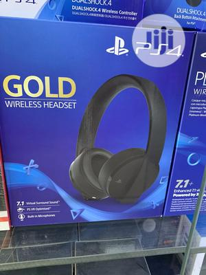 Playstation Gold Wireless Headset - Playstation 4 | Headphones for sale in Lagos State, Ikeja