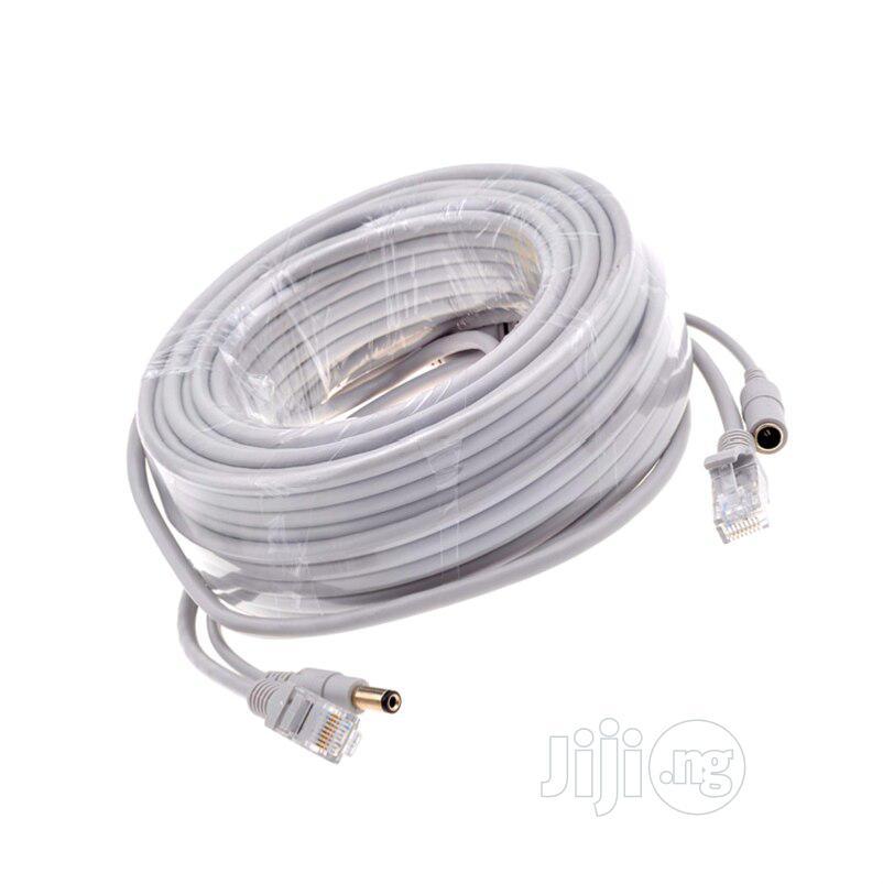20M Ethernet RJ45 + DC Power Cat 6 Cable
