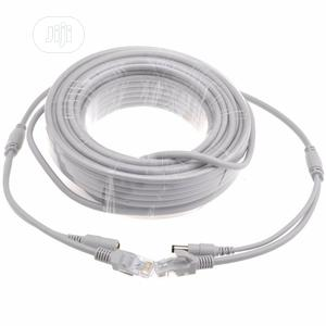 15M Ethernet RJ45 + DC Power Cat 6 Cable   Computer Accessories  for sale in Lagos State, Ikeja