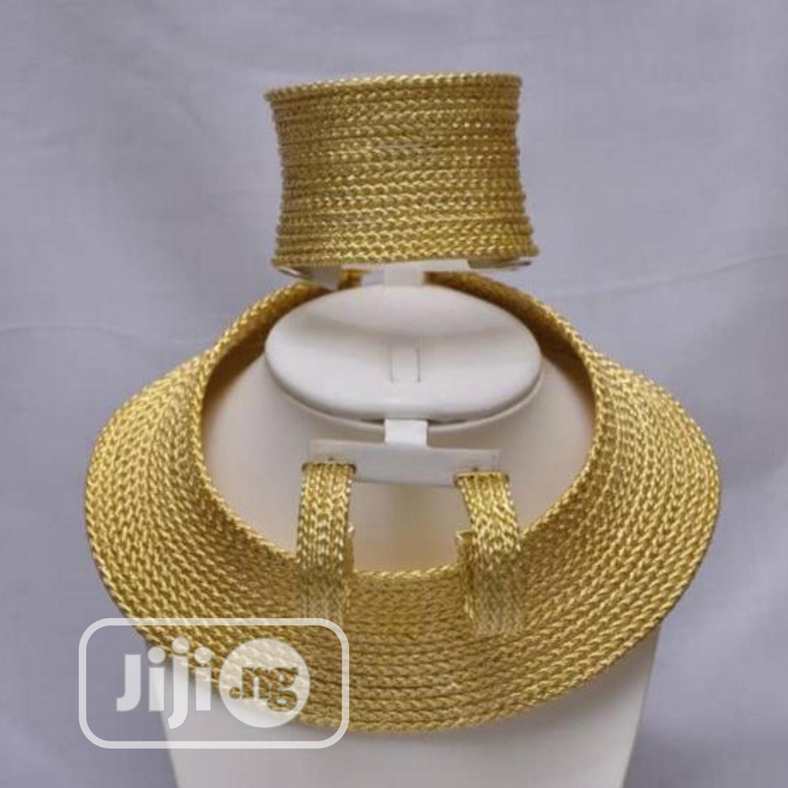 Gold Plated Italian Set Plain Gold Curve Sets