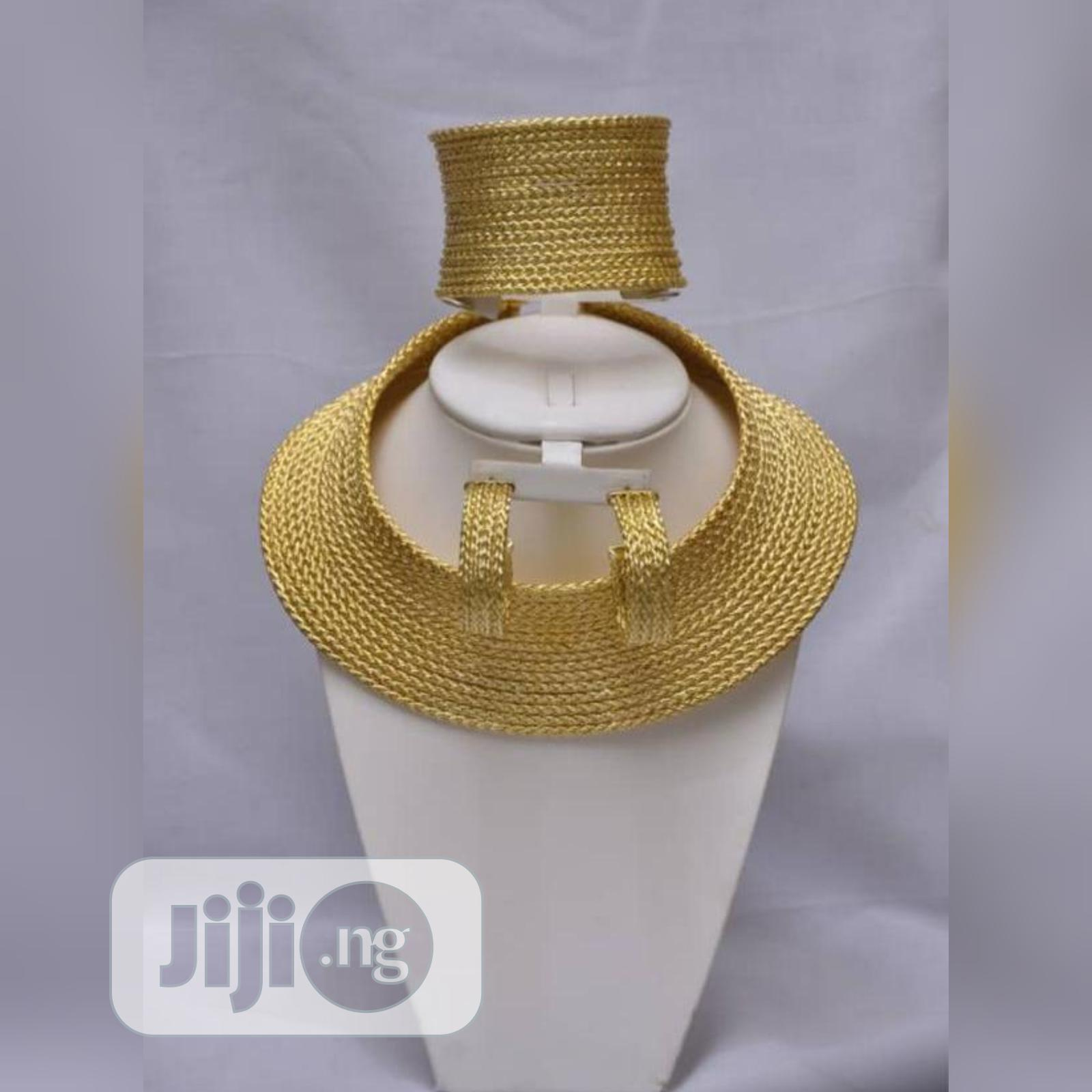 Gold Plated Italian Set Plain Gold Curve Sets | Jewelry for sale in Gbagada, Lagos State, Nigeria