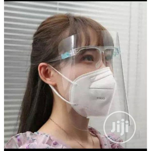 Anti Frog Face Shield With Glasses Frame Safety Face Cover