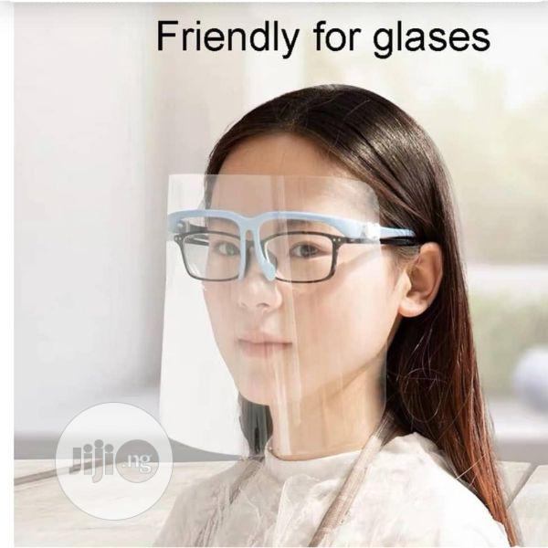 Anti Frog Face Shield With Glasses Frame Safety Face Cover | Safety Equipment for sale in Alimosho, Lagos State, Nigeria