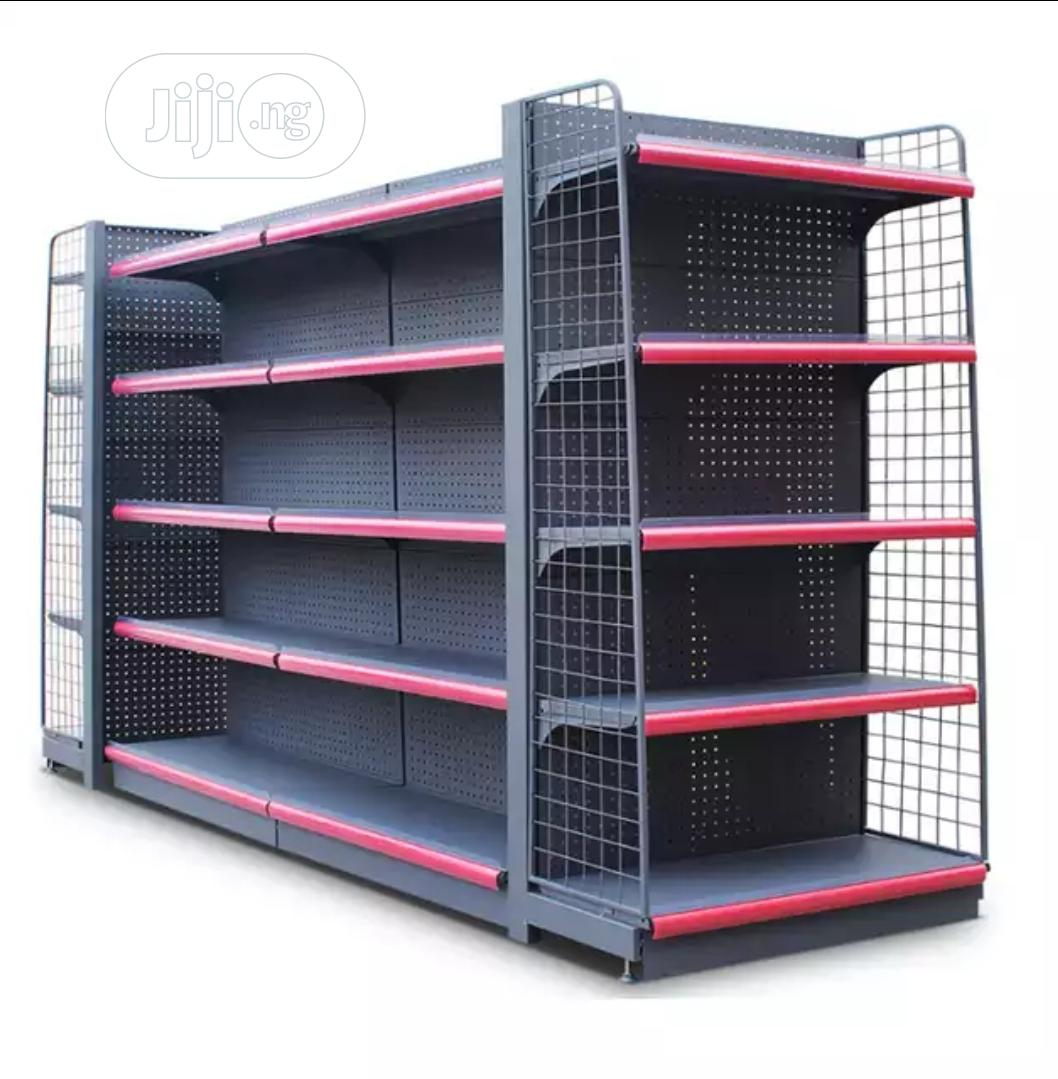 Matte Gray Supermarket Shelf