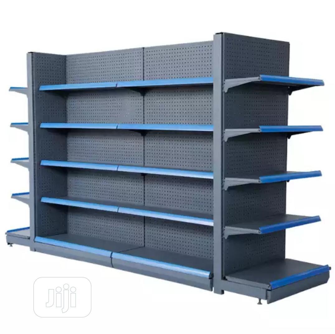 Matte Gray Supermarket Shelf | Store Equipment for sale in Kubwa, Abuja (FCT) State, Nigeria