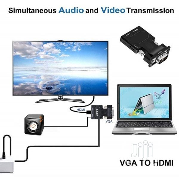 Vga To Hdmi With Audio Converter | Accessories & Supplies for Electronics for sale in Lagos Island (Eko), Lagos State, Nigeria