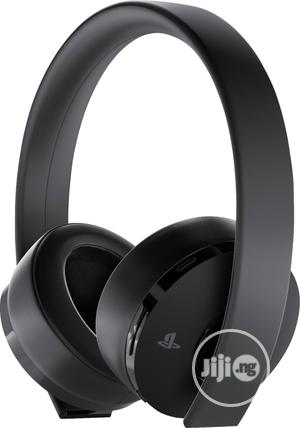 Sony Playstation Gold Wireless Headset - Black | Headphones for sale in Lagos State, Shomolu