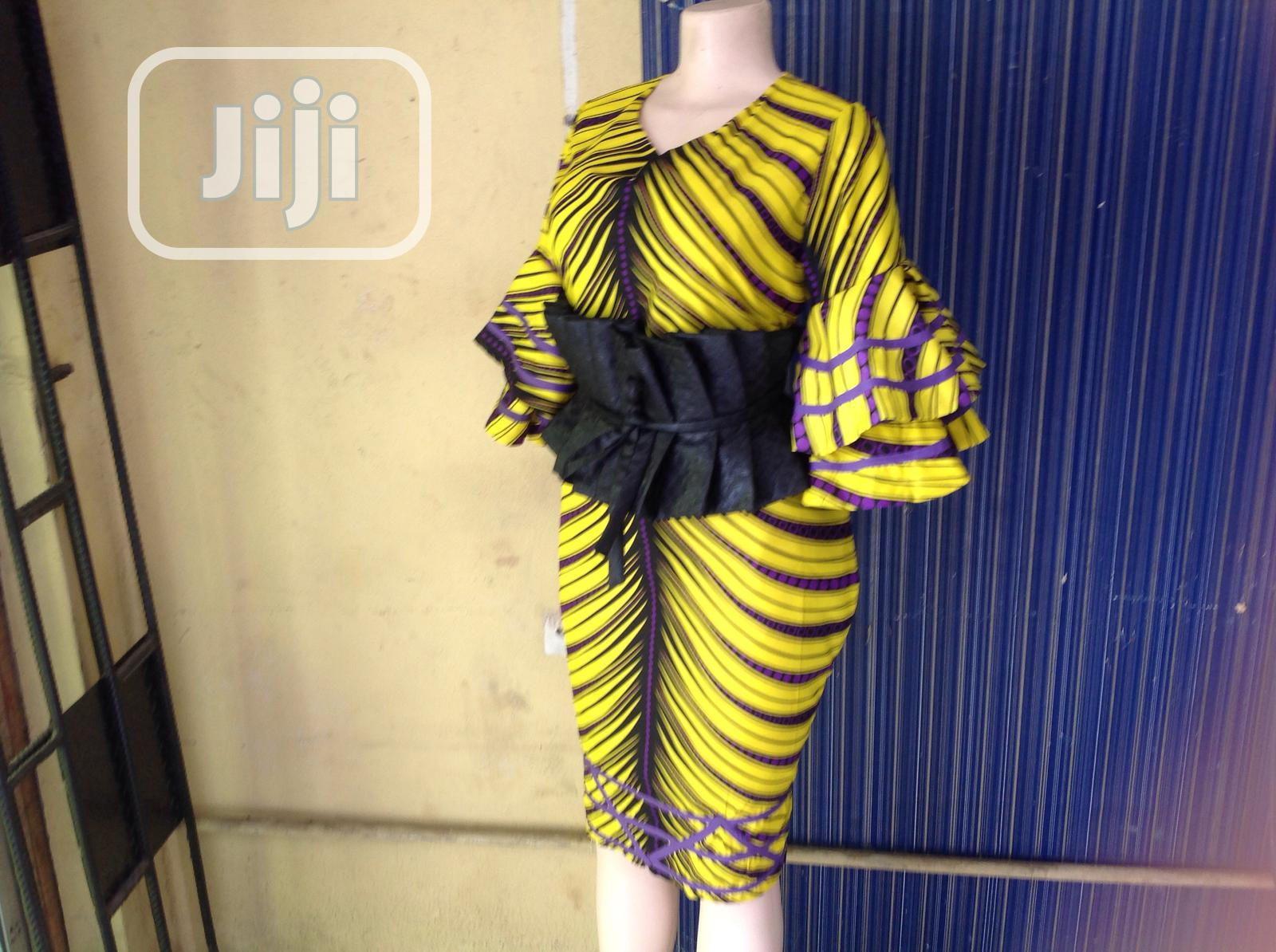 Beautiful Bright Colored Ankara Dress | Clothing for sale in Ikeja, Lagos State, Nigeria