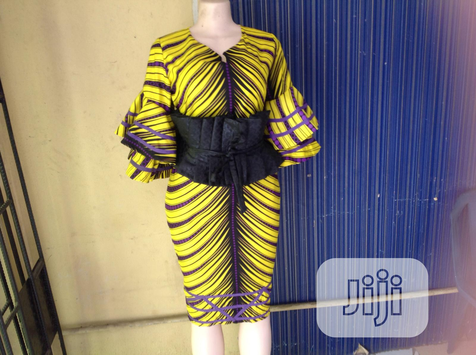 Beautiful Bright Colored Ankara Dress | Clothing for sale in Surulere, Lagos State, Nigeria