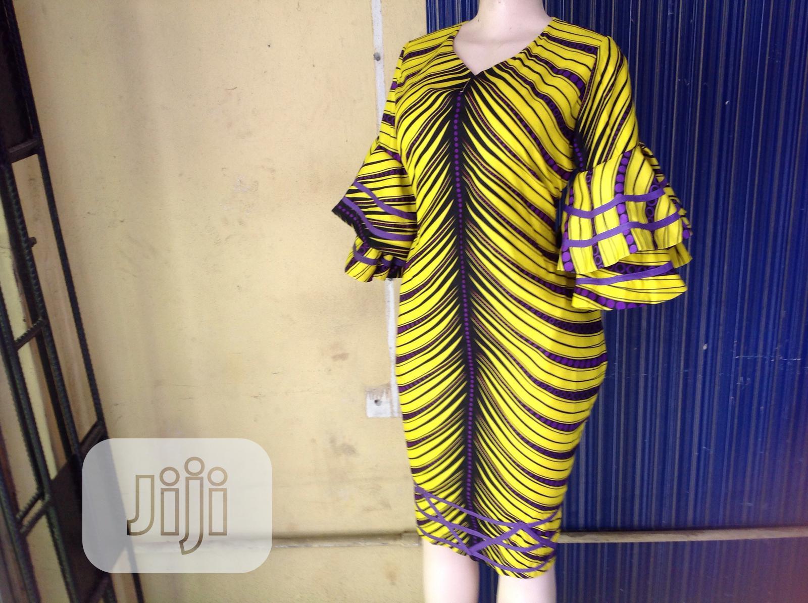 Beautiful Bright Colored Ankara Dress