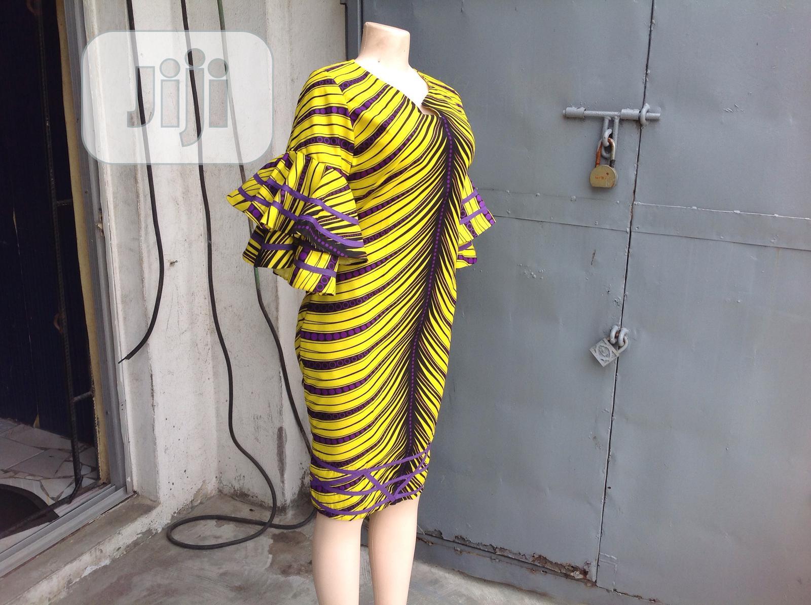 Beautiful Bright Colored Ankara Dress   Clothing for sale in Ikoyi, Lagos State, Nigeria