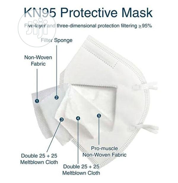KN95 Face Mask 5 Layers 10 Pcs/Pack Wholesale Price | Safety Equipment for sale in Jabi, Abuja (FCT) State, Nigeria