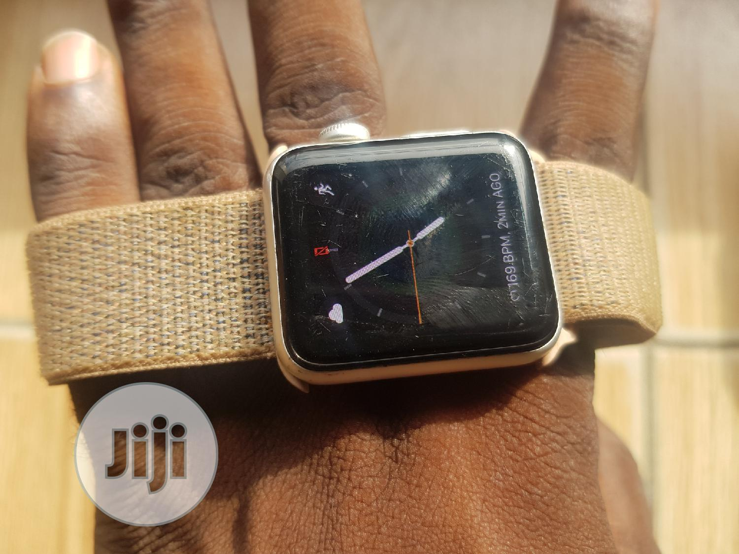 Apple Iwatch Series3 38mm Available At O2mphones | Smart Watches & Trackers for sale in Ikeja, Lagos State, Nigeria