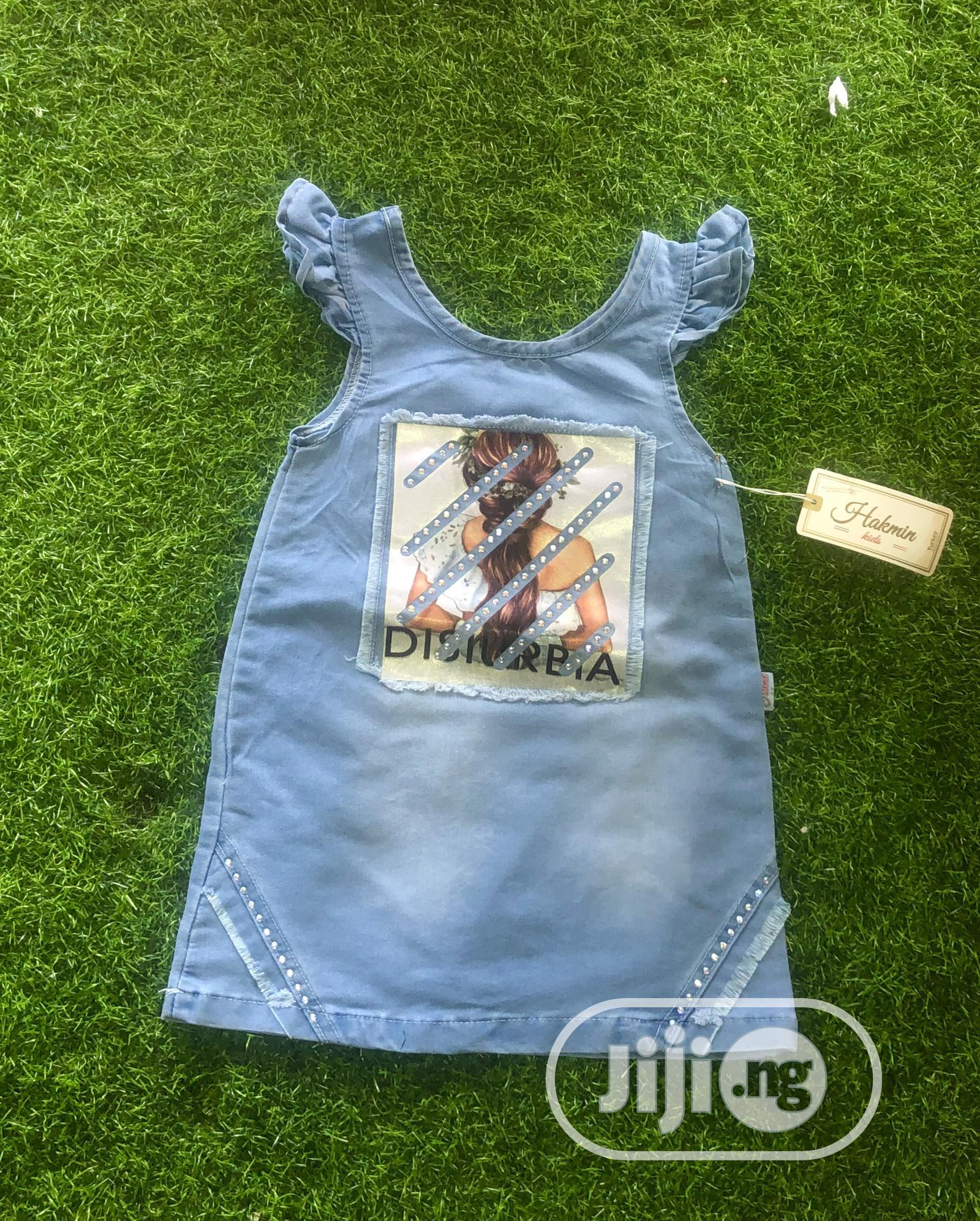 Lovely Jeans Gown Age 1-4yrs