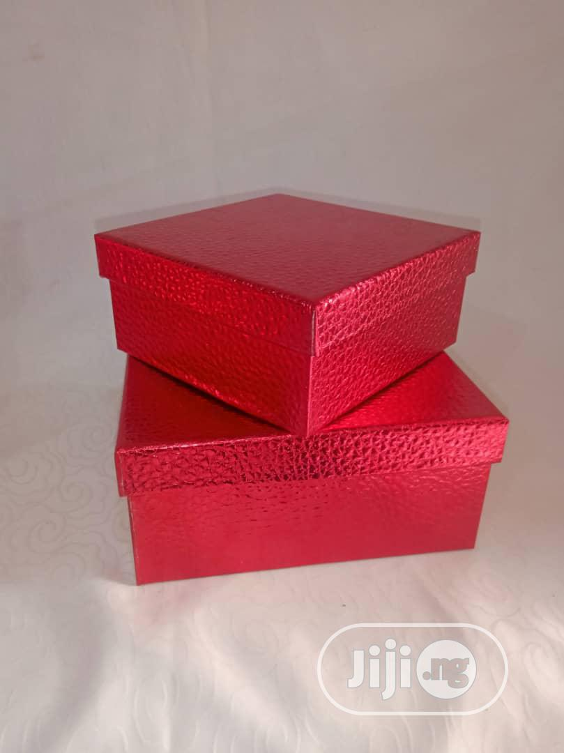 Archive: Christmas Red Gift Box Set of 2