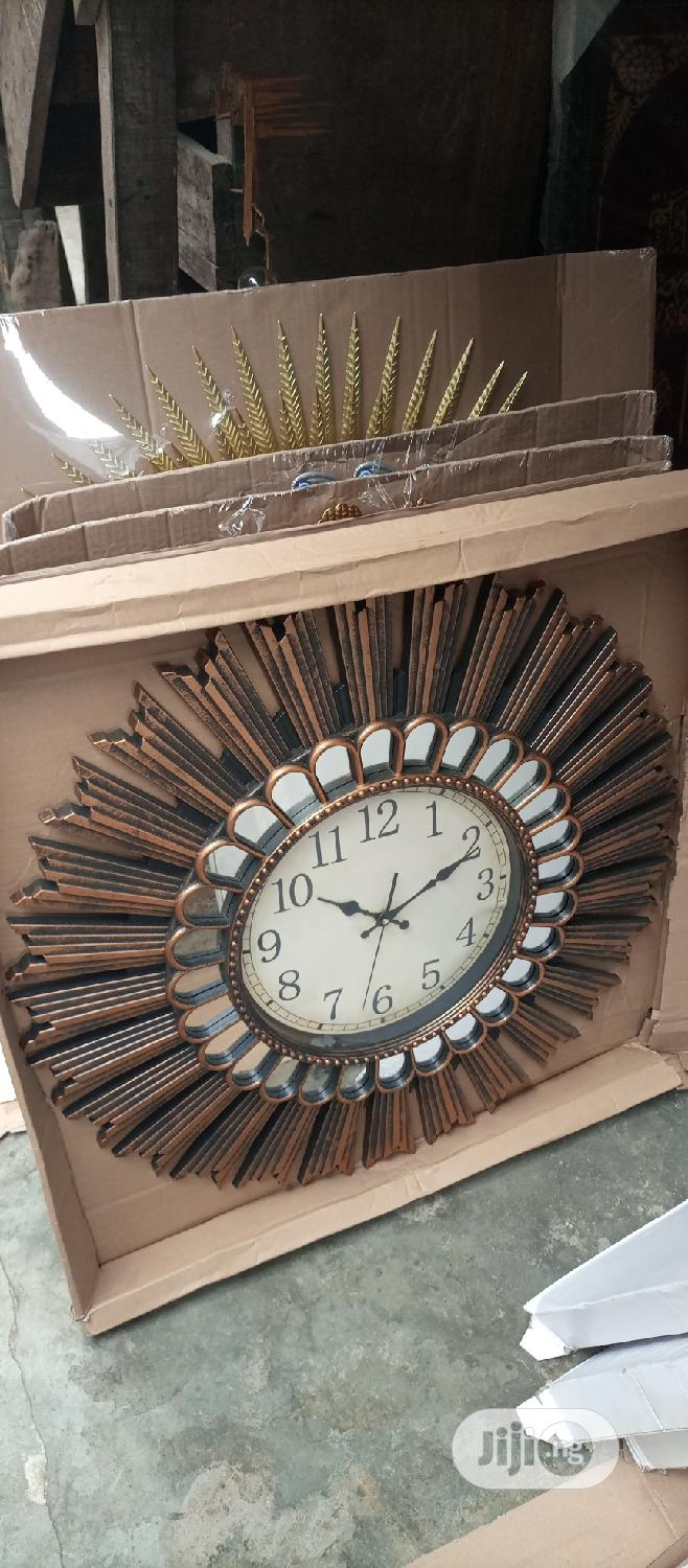Decorate Ur Home With Wall O'clock Gold | Home Accessories for sale in Ojo, Lagos State, Nigeria
