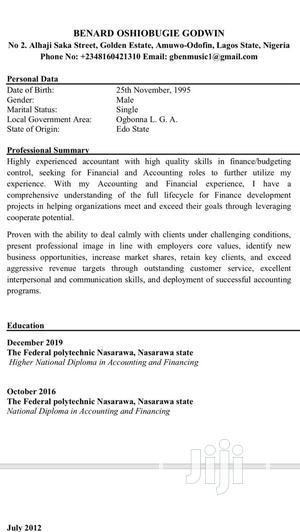 Travel & Tourism CV   Travel & Tourism CVs for sale in Lagos State, Amuwo-Odofin