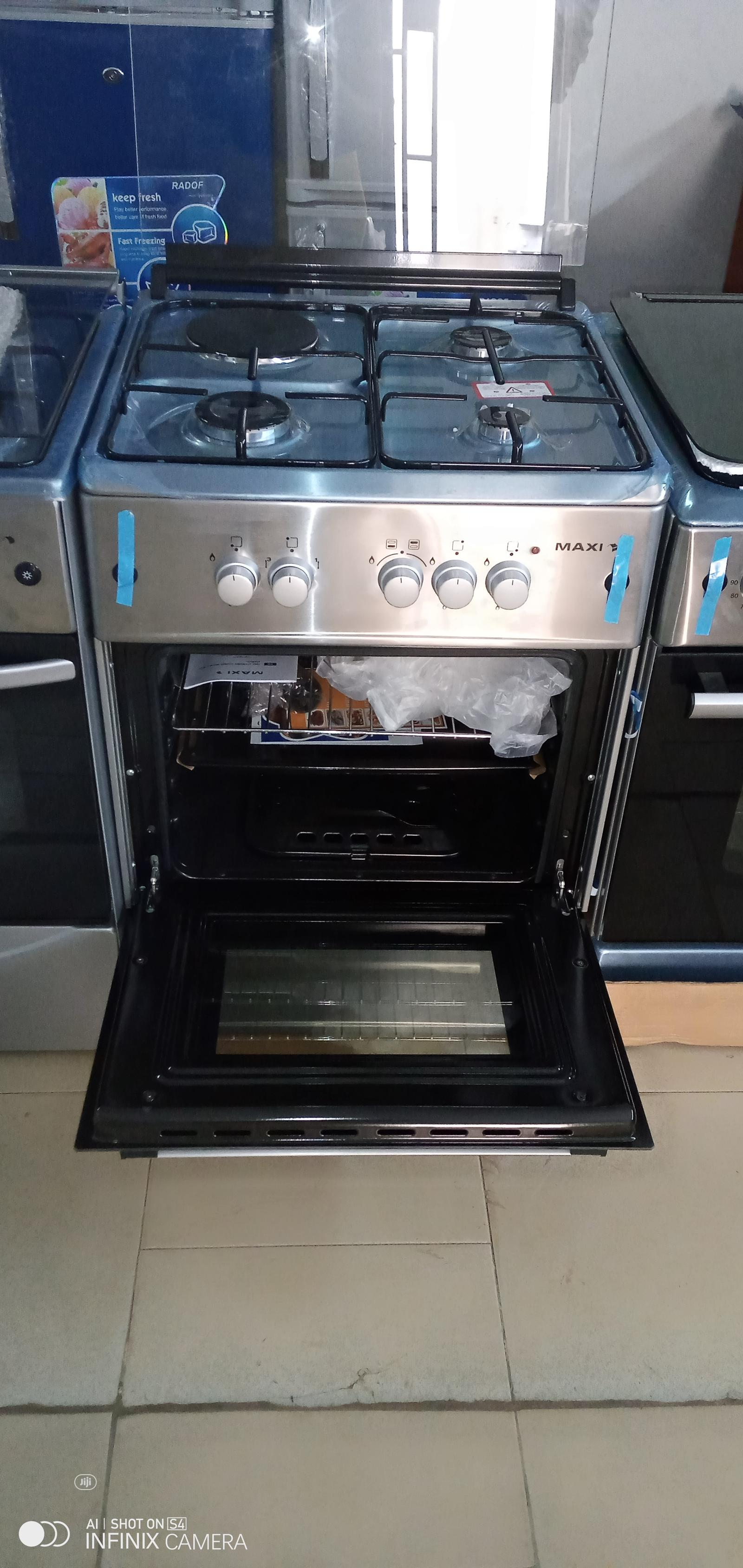 MAXI Gas Cooker 6060 3 Gas + 1 Electric Burner
