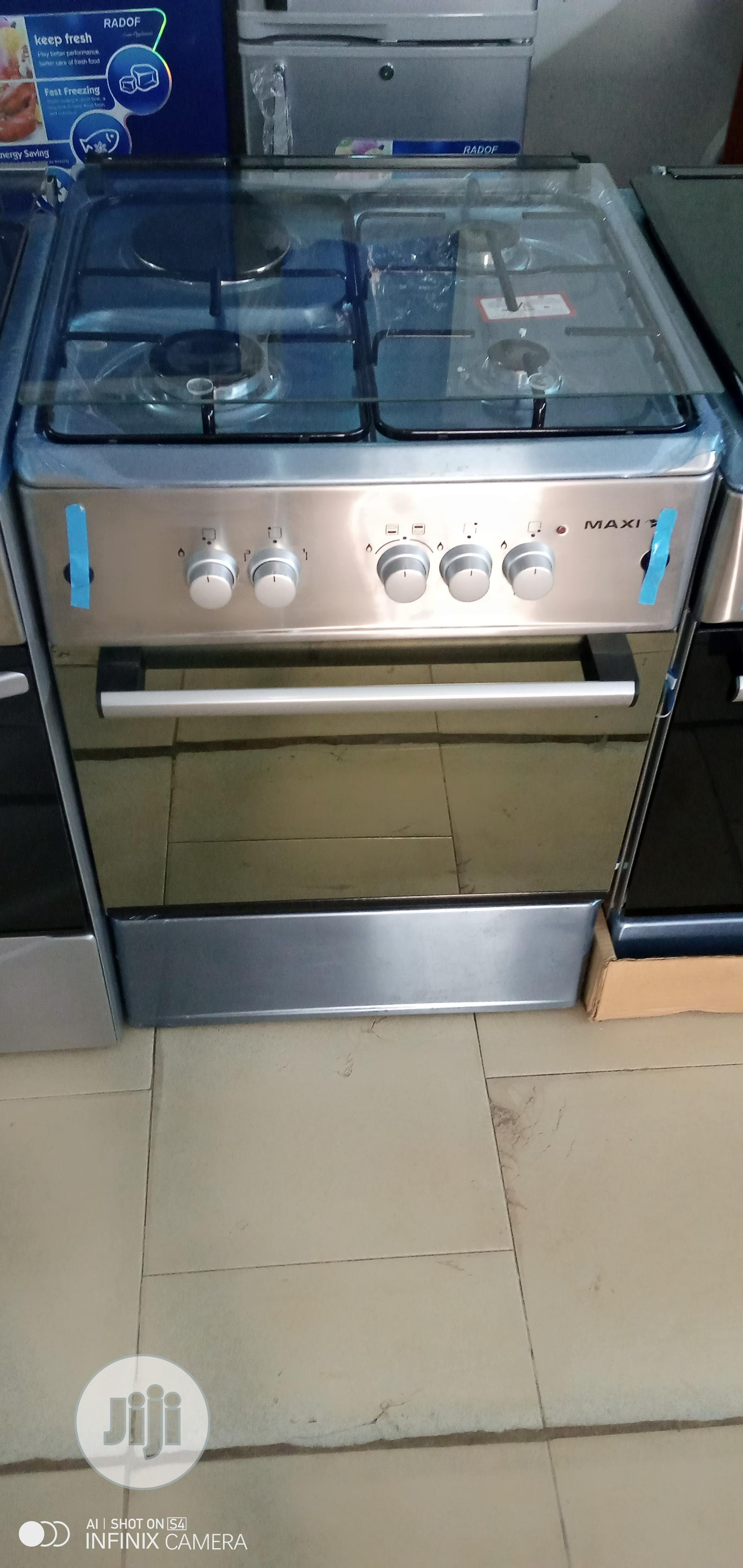 MAXI Gas Cooker 6060 3 Gas + 1 Electric Burner | Kitchen Appliances for sale in Benin City, Edo State, Nigeria