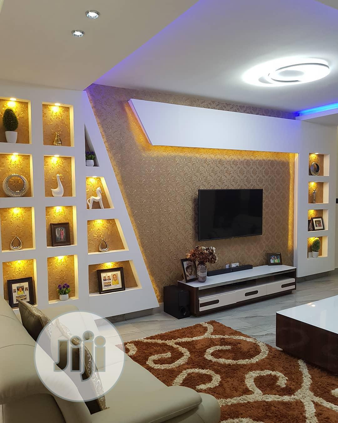 TV Wall Design And House Painting And Interior Decoration | Building & Trades Services for sale in Lagos Island (Eko), Lagos State, Nigeria
