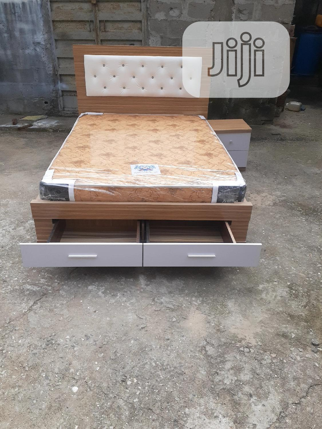 4 By 6 Bed Frame With Original Mattress | Furniture for sale in Ojo, Lagos State, Nigeria