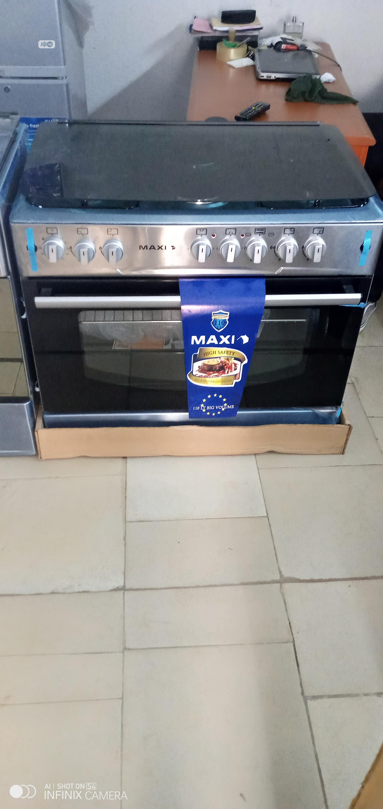MAXI Gas Cooker MAXI60*90 (4+2) - Inox | Kitchen Appliances for sale in Benin City, Edo State, Nigeria