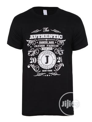 Jayden Apparelkare Printed T-Shirt Black   Clothing for sale in Lagos State, Surulere