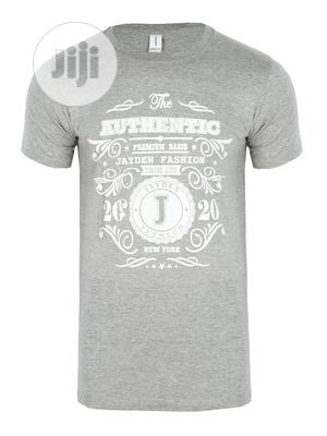 Jayden Apparelkare Printed T-Shirt Grey   Clothing for sale in Lagos State, Surulere