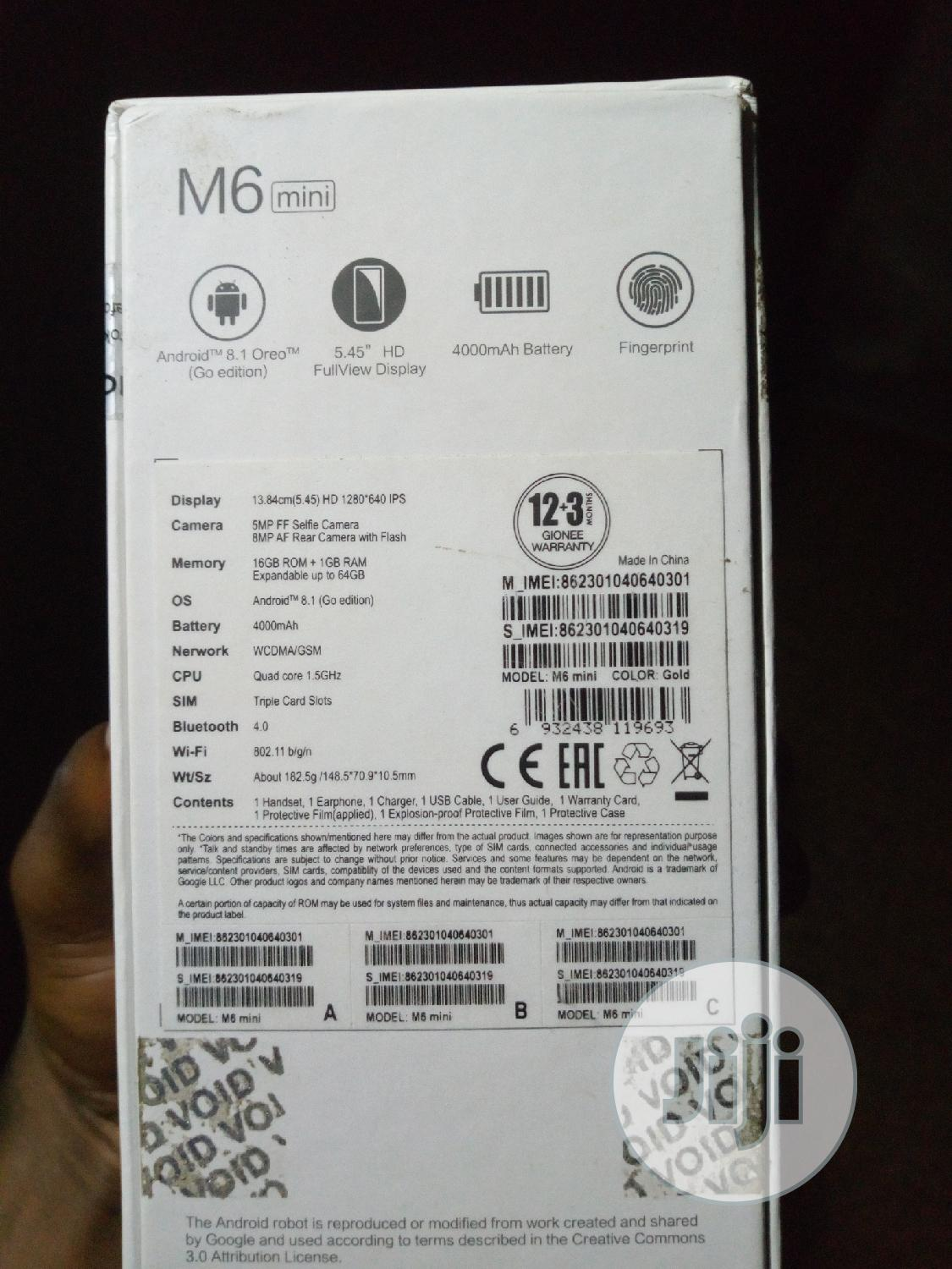 Archive: New Gionee M6 64 GB Gold