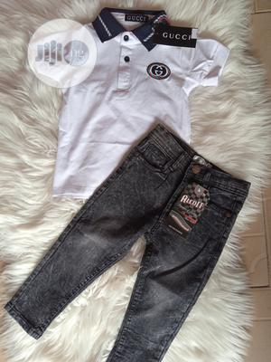Gucci Tee-shirt And Black Trouser | Children's Clothing for sale in Lagos State, Agege