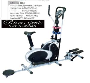 4 in 1 Elliptical Bike With Dumbbells Stepper and Twister | Sports Equipment for sale in Rivers State, Port-Harcourt
